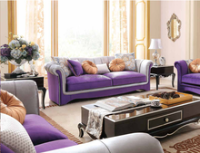 Living Room Warm Peaceful Purple Sectional Sofa And Sofa Bed Sofa FurnitureZD-S6949-1