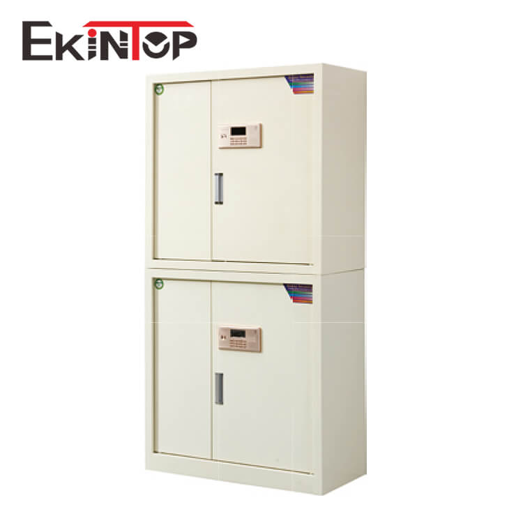 Ekintop cupboard vertical roller door steel roll door 2 door metal industrial coin storage cabinet