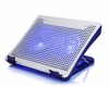 8 degree angle adjustable notebook cooler pad with usb hub and fan