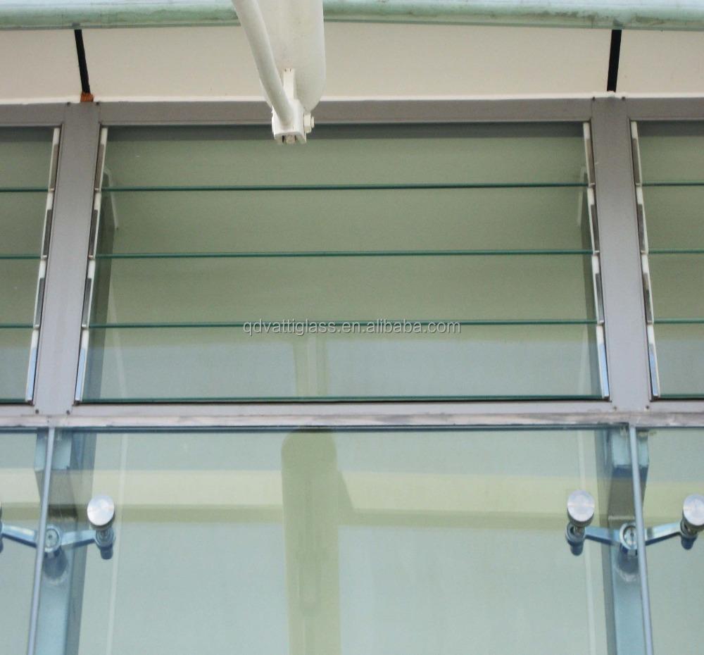 Precio de lamas de vidrio sin marco de vidrio ventanas con for Precios de ventanas con persianas