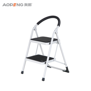 Skillful manufacture safe steel two step ladder steel step stool