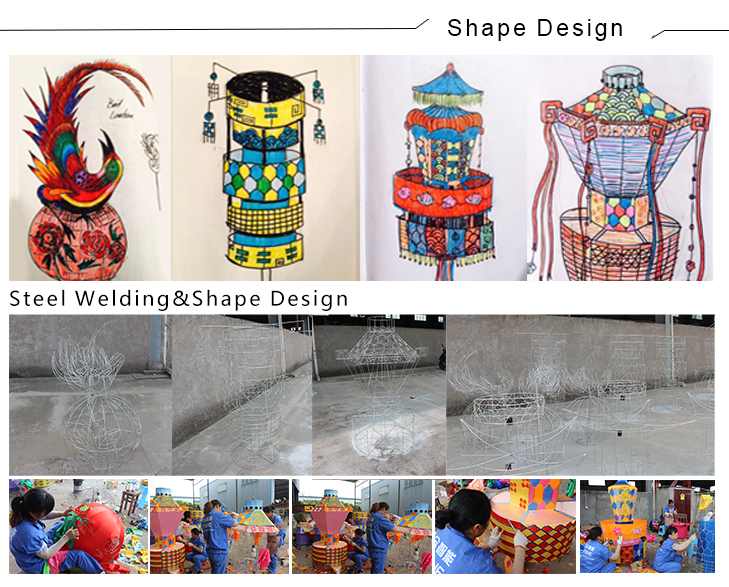 Colorful Chinese Lantern Light,Chinese Handmade Lantern