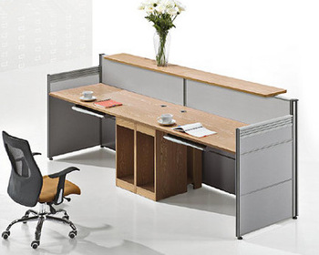 Office Steel Front Counter Table Design
