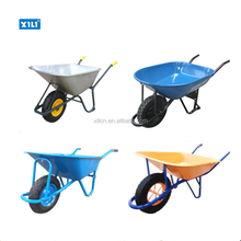 China steel wheelbarrow with 40L-200L tray for sale
