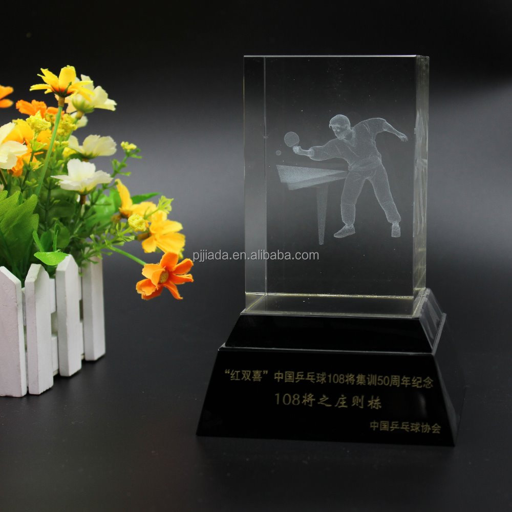 K9 Crystal Cube 3D Laser Engraved Crafts Quartz Glass Figurines Ornaments Paperweight Souvenirs