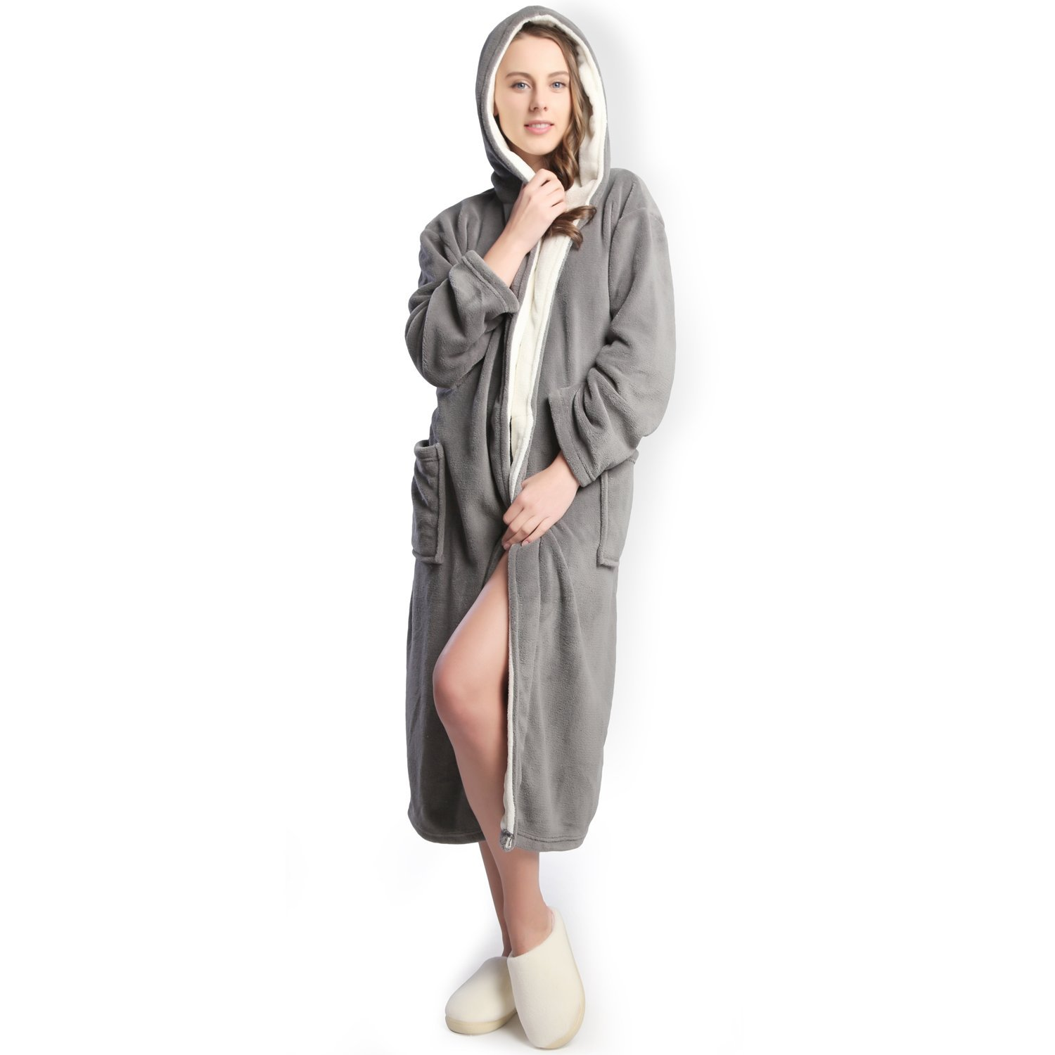 Get Quotations · Hooded Women Soft Spa Long Bathrobe d9773aded