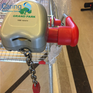 zinc alloy coin operated trolley supermarket shopping cart lock