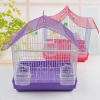 Purple Hanging Firm Mini Bird Cage Flat Pack