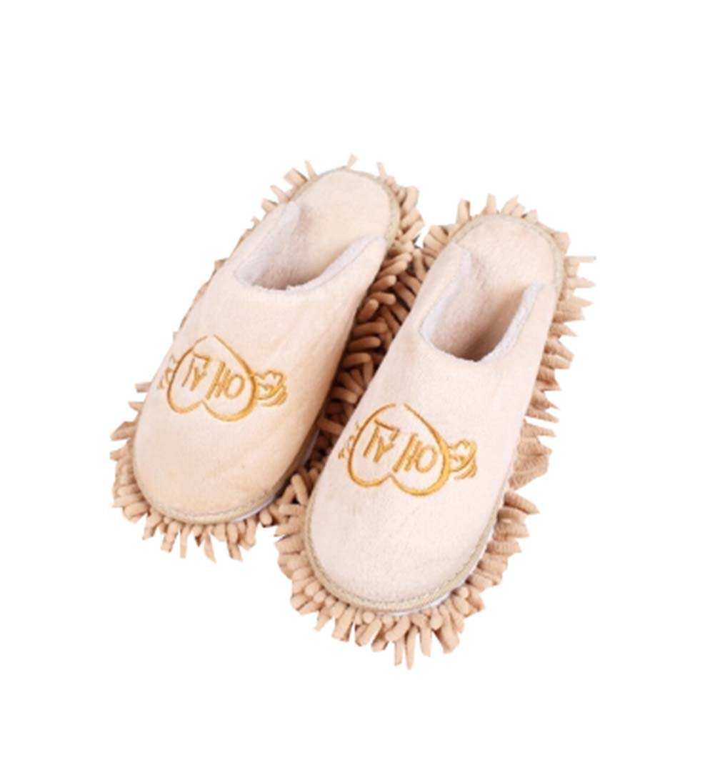 dc9ea7cc41f Fall Winter Lazy Wipe Slippers Floor Slippery Soles Removable Cleaning  Slippers