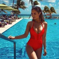 2016 Summer Sexy Mesh One Piece Thong Swimsuit Bandage Women Monokini Swimwear Hollow Out Bathing Suit