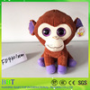 cute good quality plush 3d eyes plush monkey