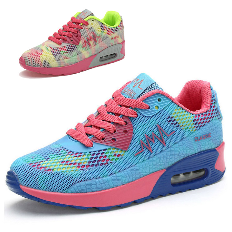 Fashion Breathable Mesh Shoes Female 2015 New Arrival Women Casual Fashion Sneakers Lace Up Sport Shoes For Women Outdoor Play