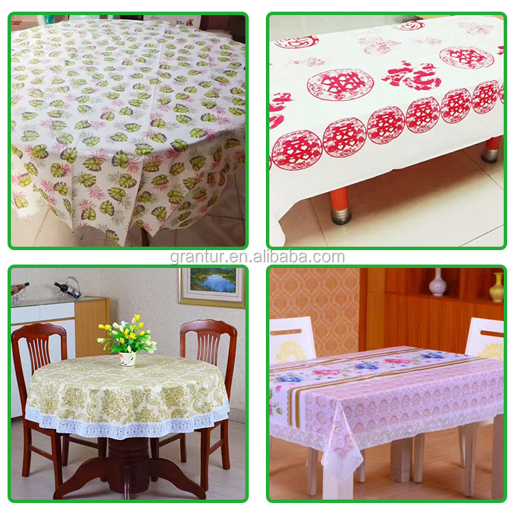 Banquet Paper Tablecloth With Custom Design Heat Resistant Table Cloth