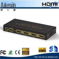 4x1 4 Ports HDMI Switch with Remote and Audio Output Support 4k 1080p Full HDTV
