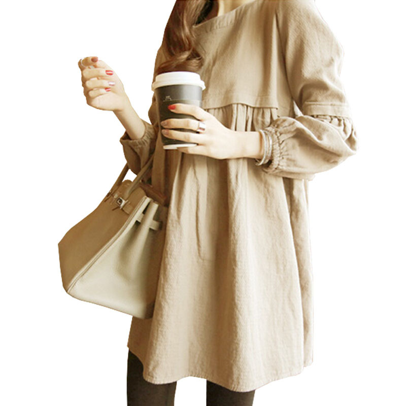 7517c35ed Buy 2015 Autumn Cotton Loose Nursing Maternity Dresses Fedding Clothes For  Pregnant Women Ropa Embarazada O-neck Pregnancy Clothing in Cheap Price on  ...