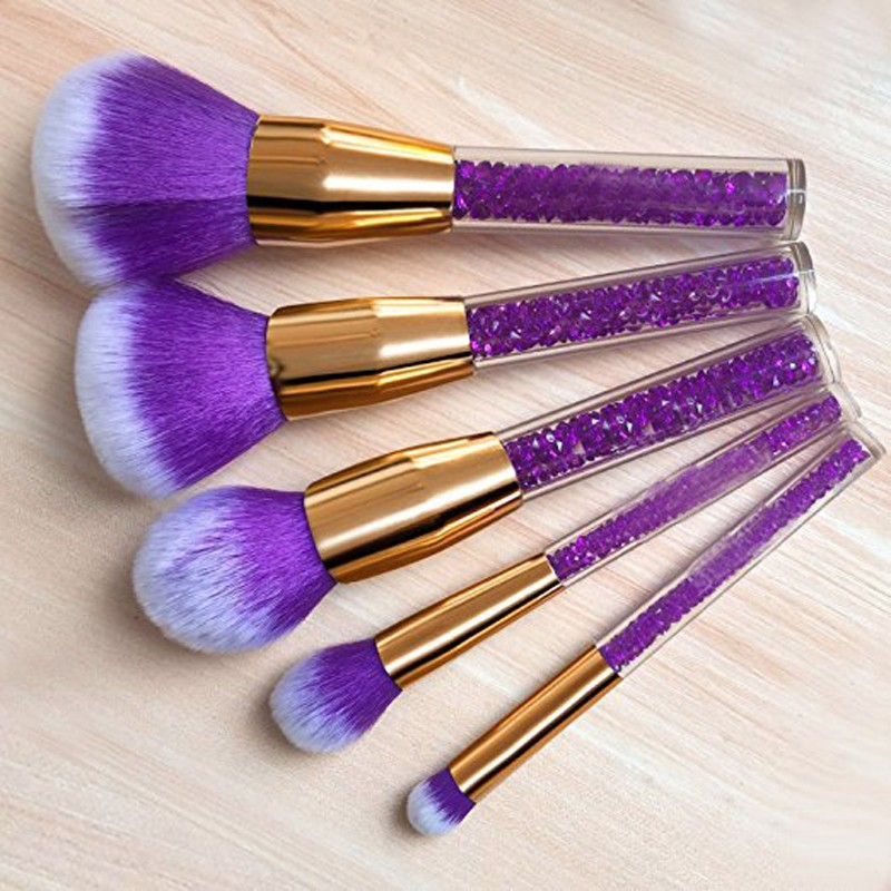 2018 goat hair custom logo 15pcs best make up brush set rose gold makeup brushes