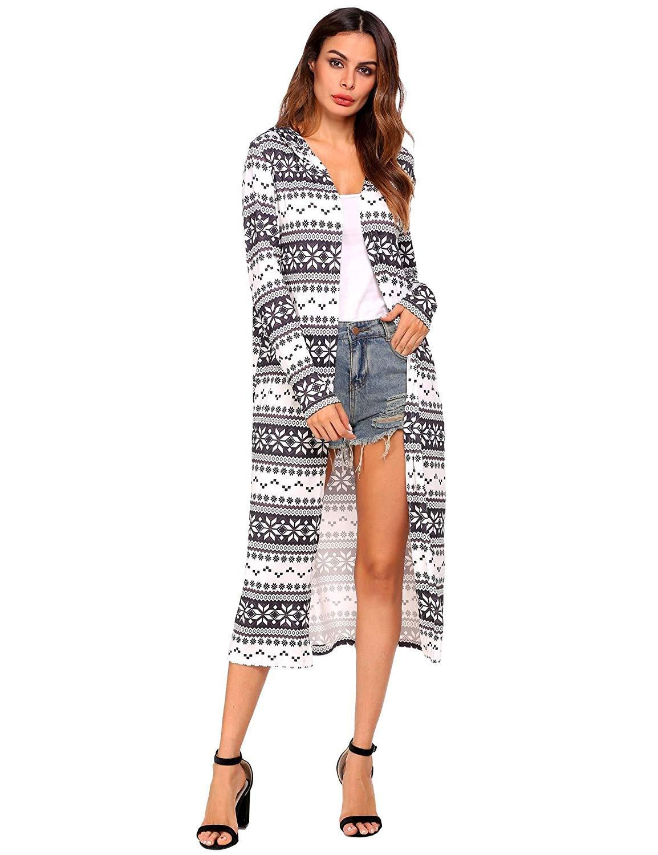 dc4b562c988f Get Quotations · ELESOL Women Slim Fit Long Sleeve Print Bearded Rudolph  Ugly Christmas Winter Knit Sweater Jumper Dress