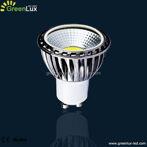 wide beam angle 90 degree 5W Dimmable GU10 LED COB Spot Reflector Downlight Bulb