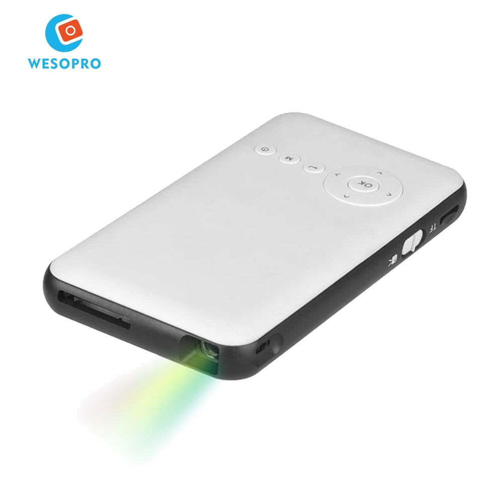 WESOPRO Mini Portable Home Theater Projector LED Pocket Projector 4K Android 7.1 DLP Smart mobile Projector Support 1G8G UK IPTV фото