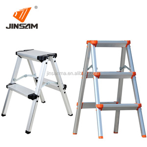 China suppliers 6063 aluminum telescopic household iron step ladder