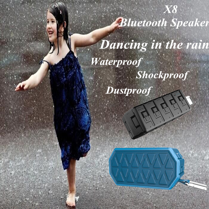 hand free calls better low sound quality x8 bluetooth speaker Wireless cell phone speaker and microphone