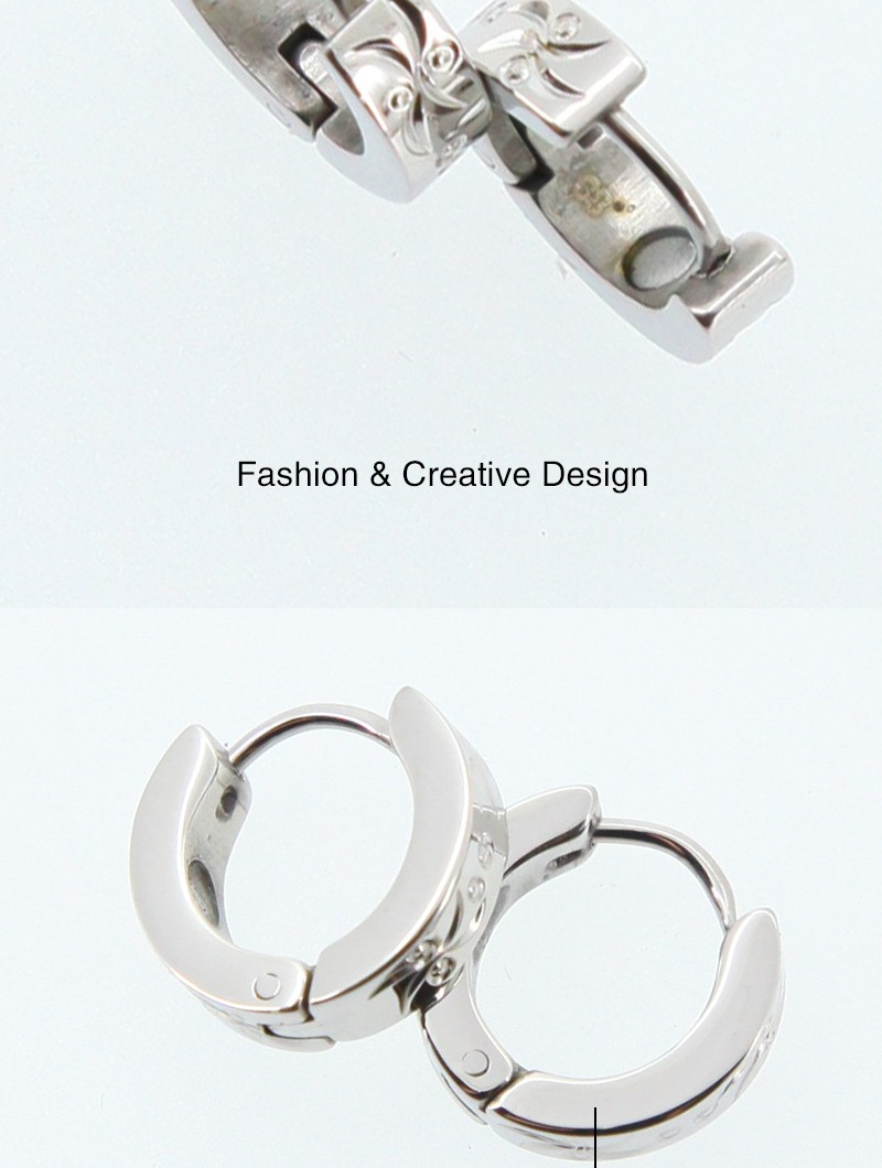 Silver Matte Where To Buy Magnetic Earrings For Guys,health Jewelry Magnet  Earring