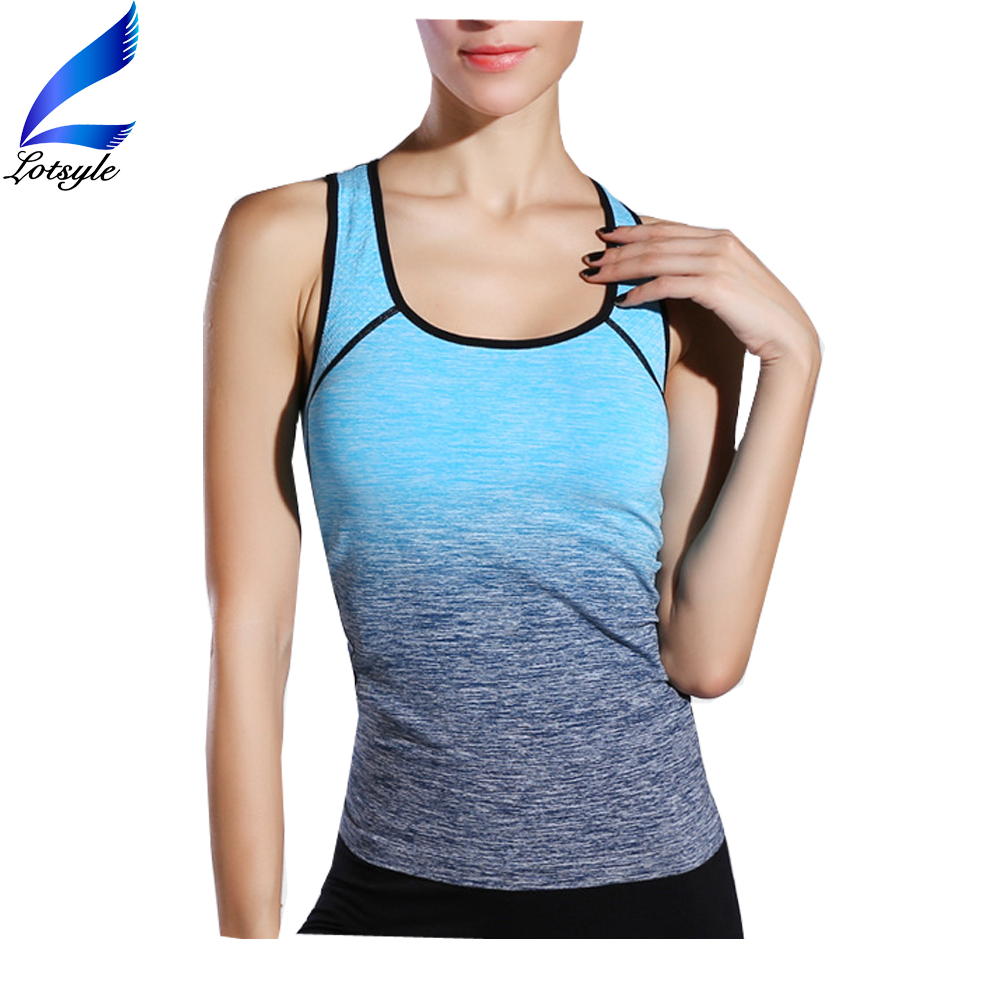 Lotsyle Color Changing Sleeveless Gym Singlet Women Sports Wear Yoga T-Shirts