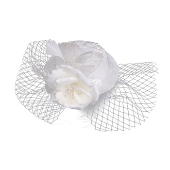 European and American small white hat clip pearl bridal flower head performance luxury hair accessories