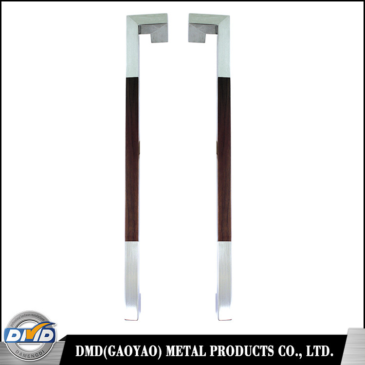 DMD-198 Factory supply rosewood bar 304 stainless steel glass door pull handle