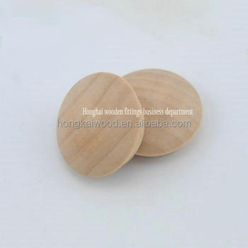 High Quality Natural Wooden Decorative End Caps For Screw