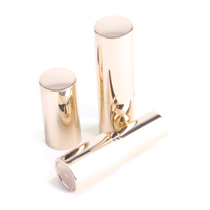 Beautiful Empty Shiny Gold Custom Round 12ml Luxury Lipstick Tube Container Packaging