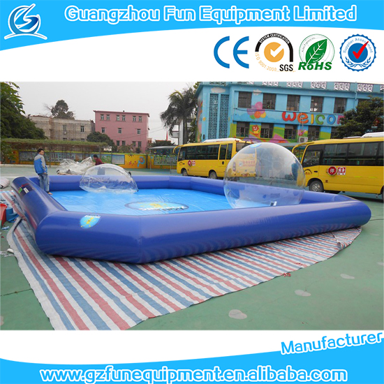 PVC Tarpaulin water pool / inflatable square swimming pool / large pool for roller ball