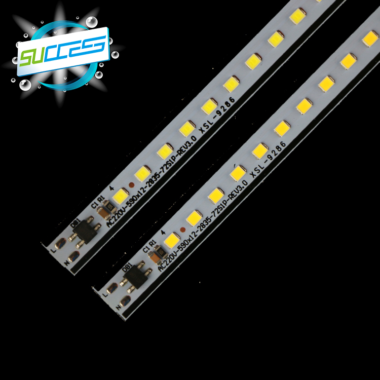 customized 220v smd2835 led rigid strip light pcb board showcase lighting