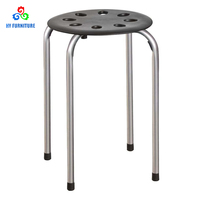 Bulk wholesale furniture plastic stacking stools metal stacking stool