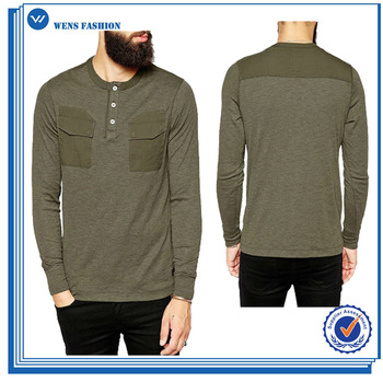 Design Your Own Long Sleeve With Two Pocket Tee Shirts