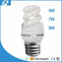 China factory ce rohs e27 e24 vietnam saving energy spiral lamp light