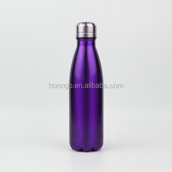 500ML Chinese promotion stainless steel Glacierpoint bottle draw and label a cola shaped vacuum flask