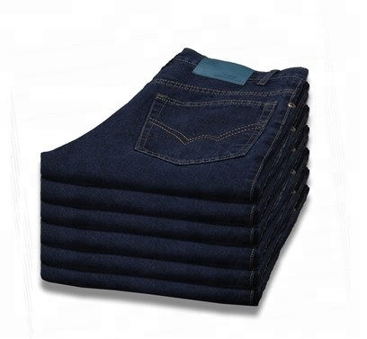 Custom made cargo work wear man pants embroider or printing blue jeans cheap jeans by OEM yulin factory