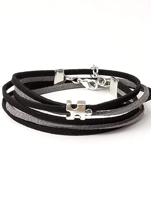 Autism Bracelet Multi Strand Wrap Bracelet Autism Awareness Jewelry Gifts For Mom 6-8 Inch.