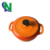 Chine Fabricant D'ustensiles De Cuisine Émail Revêtement Induction Four Hollandais En Fonte Cocotte En Fonte Orange 18 cm