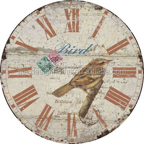 BIRD ROUND MDF WALL CLOCK