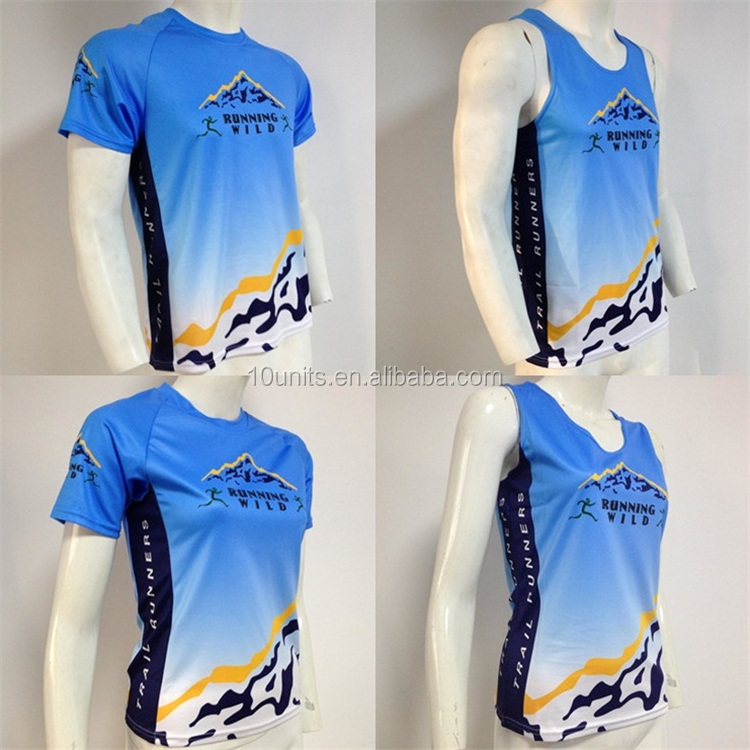 Sublimation custom design sport jersey wholesale short sleeve running top 100% polyester t shirt
