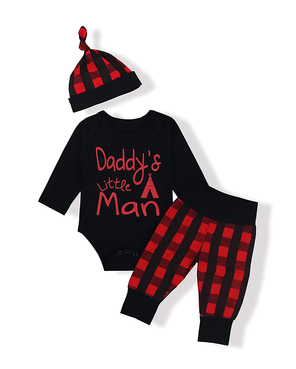 581d1ae9012ba Get Quotations · Newborn Baby Boy Girl Clothes Long Sleeve Cute Onesie Camo  Pants with Hat Outfit Set