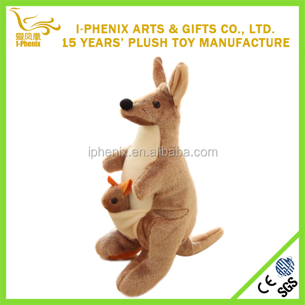 Australia kangaroo toy wholesale stuffed animal plush Australia kangaroo with baby