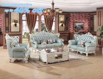 Free Shipping Leather Sofa Set Furniture French Lounge