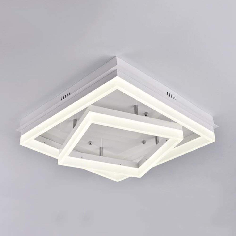 XQY Ceiling Light-Iron Square Acrylic Modern Minimalist Warmth Bedroom Living Room Study Energy Saving