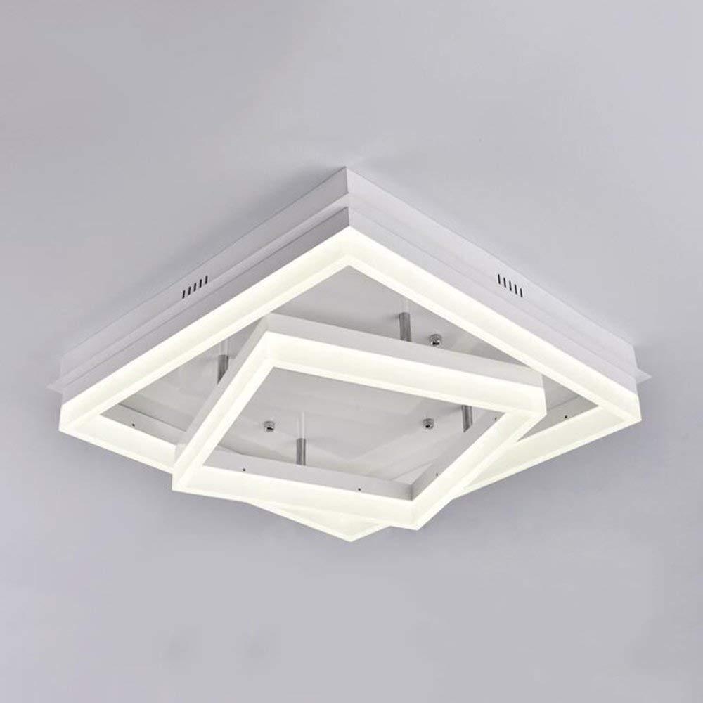 XQY Ceiling Light-Iron Square Acrylic Modern Minimalist Warmth Bedroom Living Room Study Energy Saving