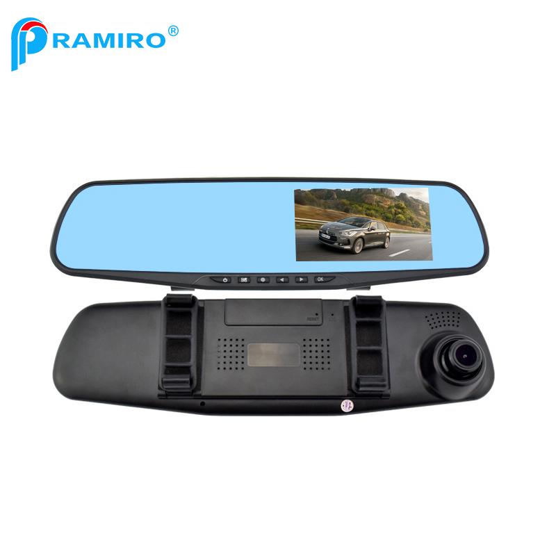 Car & Truck Parts Aggressive 4.3 Hd 1080p Dual Lens Car Dvr Rear View Mirror Led Camera Videodriving Recorder
