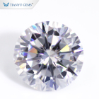 Wholesale Loose White Moissanite 5 carat round brilliant cut vvs colorless Moissanite Stone