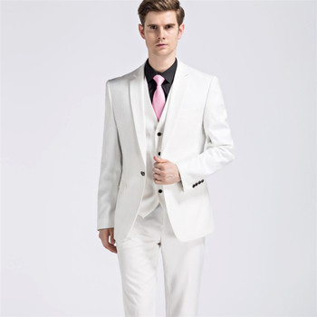 European British Fashion Formal Wear 3piece Blazerpantsvestslim